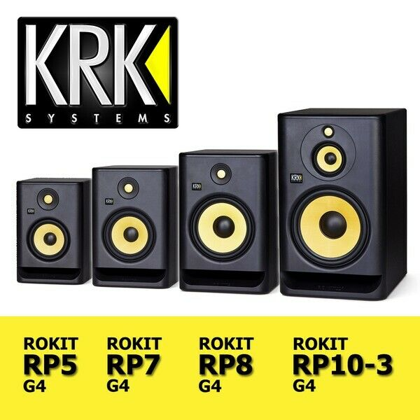 KRK Rokit G4 Series RP5   RP7   RP8   RP10-3 Active DJ Studio Monitor Speakers