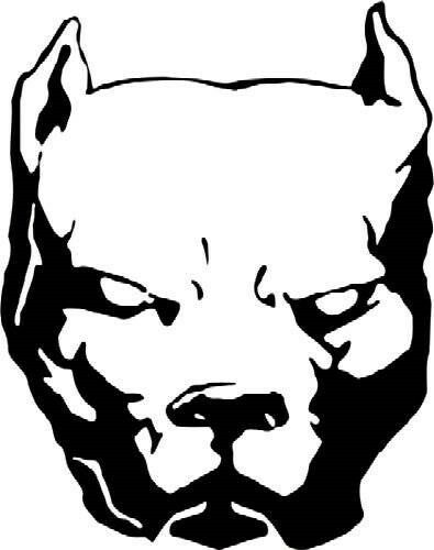 """6/"""" x 5/"""" animal pet paw dog claws cat collar boxer pit bull sticker decal new"""