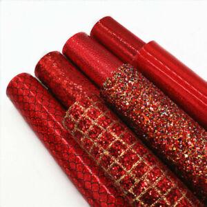 Sparkly Felt sheets Size: A4 sheet  RED Glitter Felt sparkles