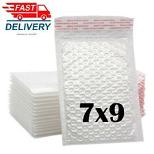 1 50 7x9 White Color Self Seal Poly Padded Bubble Mailers Envelopes