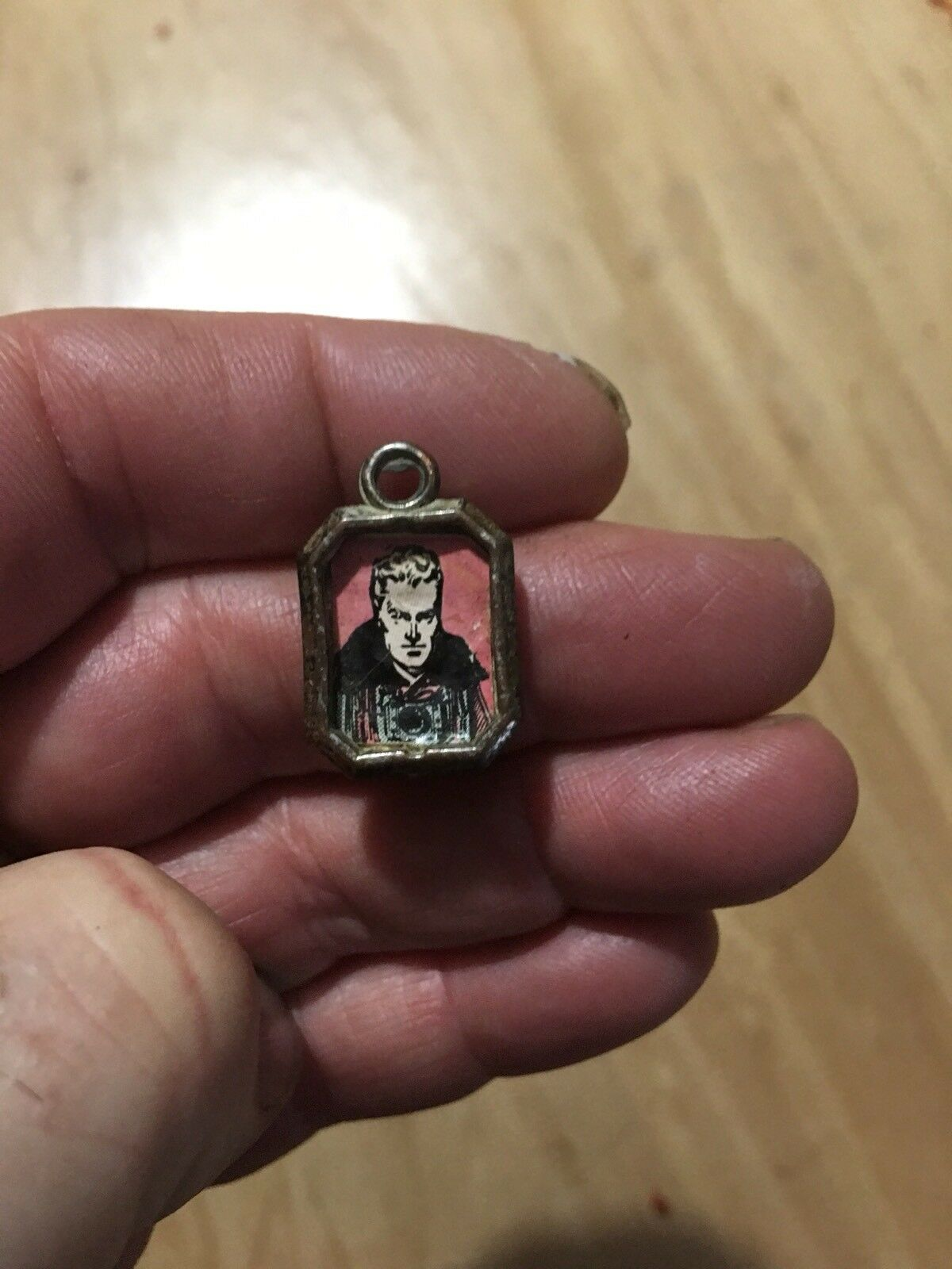 Rare Antique Flash Gordon Metal Charm Pendant Super Nice   1940's FREE SHIPPING