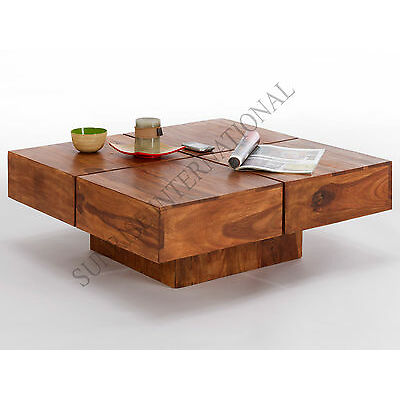 Handmade Wooden Square Coffee Center Table (Sun-Wtc450)