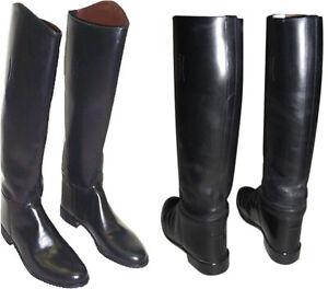 Men's Handmade Black Leather Riding