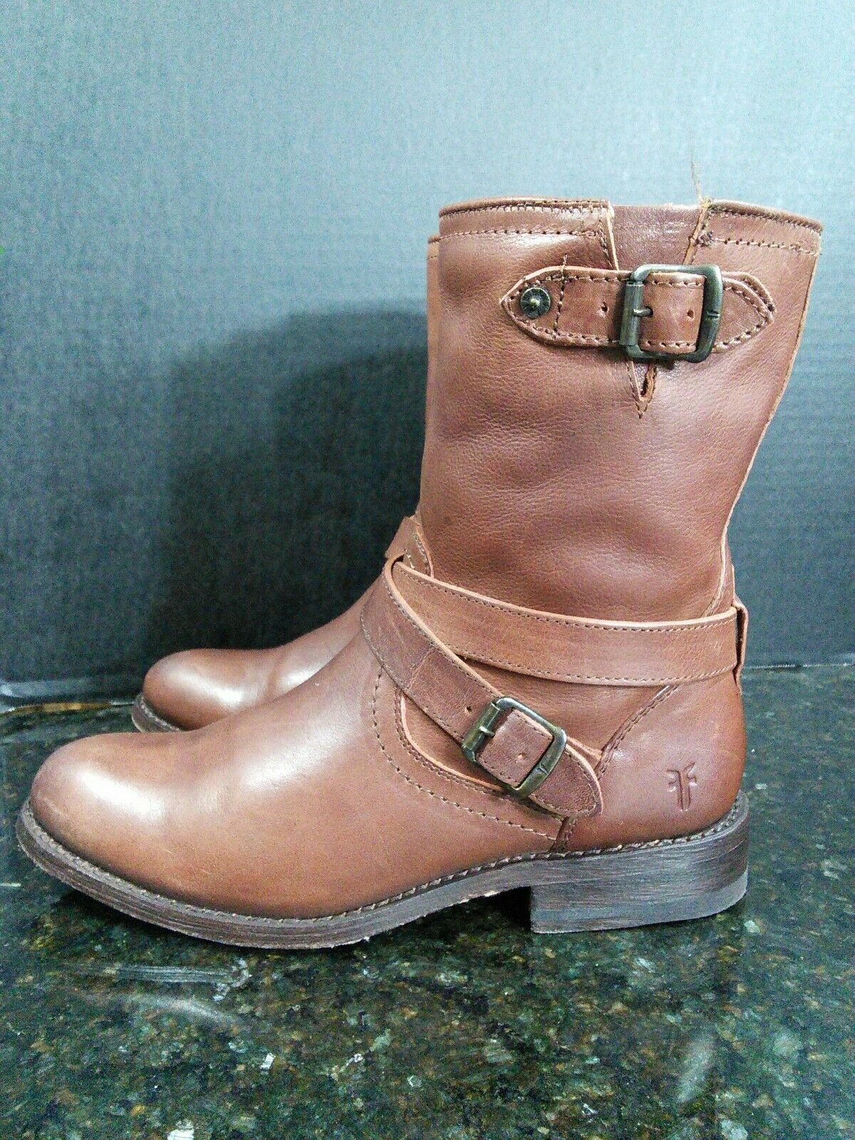 Frye Donna's Jayden Cross Engineer Boot, Dark Brown: Size 6.5 Gently Worn #B10