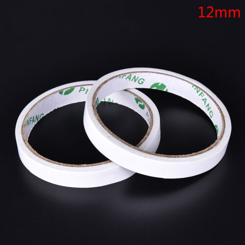 2 Rolls Strong Permanent Transparent Double Sided Self Adhesive Tape 5mm-15mm PB