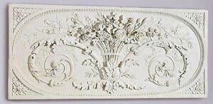 Parisian-Style-Bas-Relief-Le-Bouquet-Grand-Sculptural-Design-Toscano-Wall-Frieze