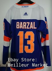 low priced 2c68f 1cdca Details about Mathew Barzal Adidas New York Islanders Mens Size L 52 Jersey  Alternate NEW NHL