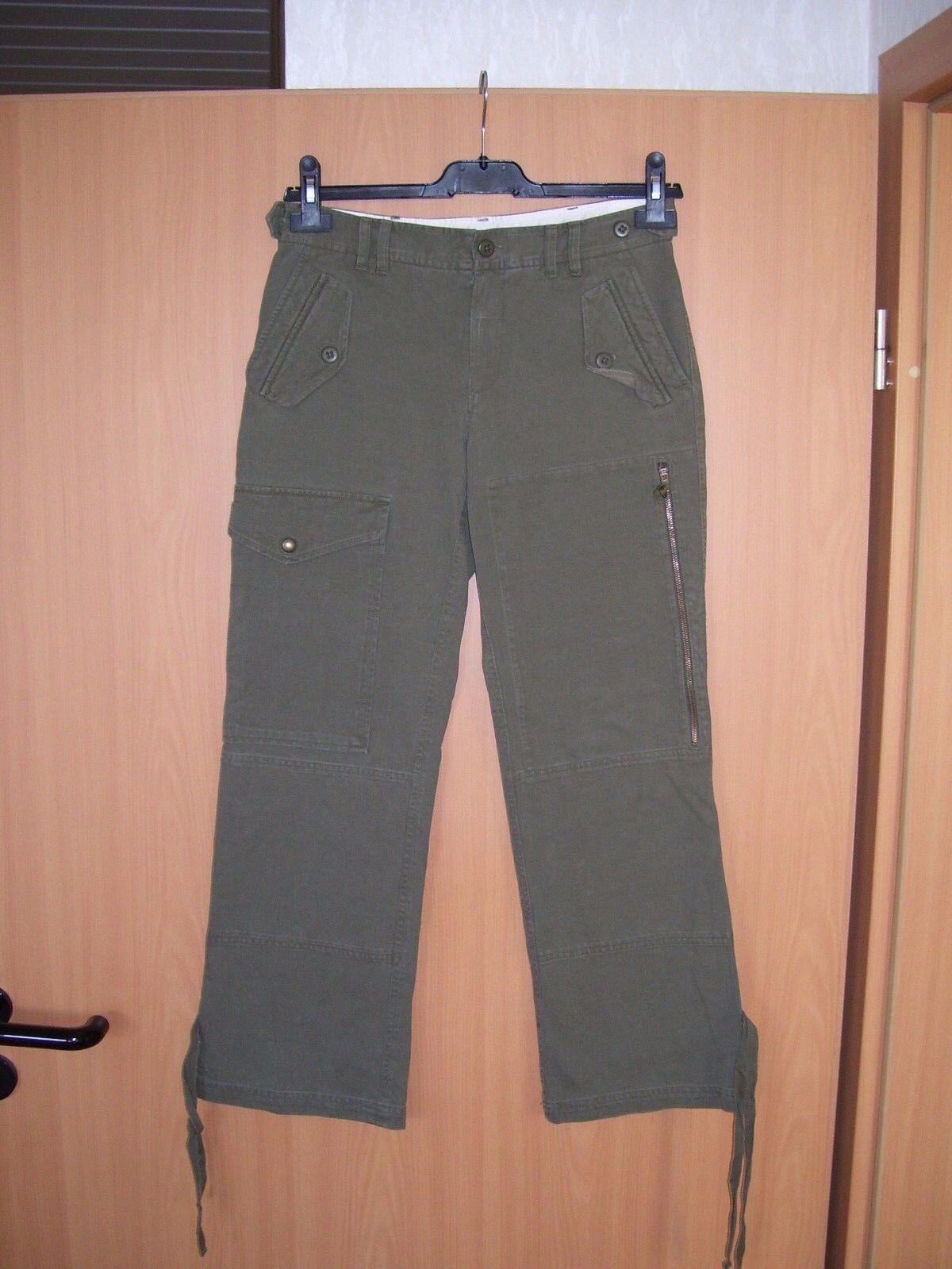 Ralph Lauren Blau Label Cargohose Hose oliv grün Grösse S  L28 neu