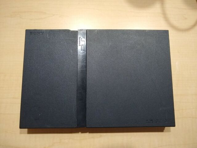 Sony PlayStation 2 Slim Charcoal Black Console only. Ps2 slim. For parts/broken.