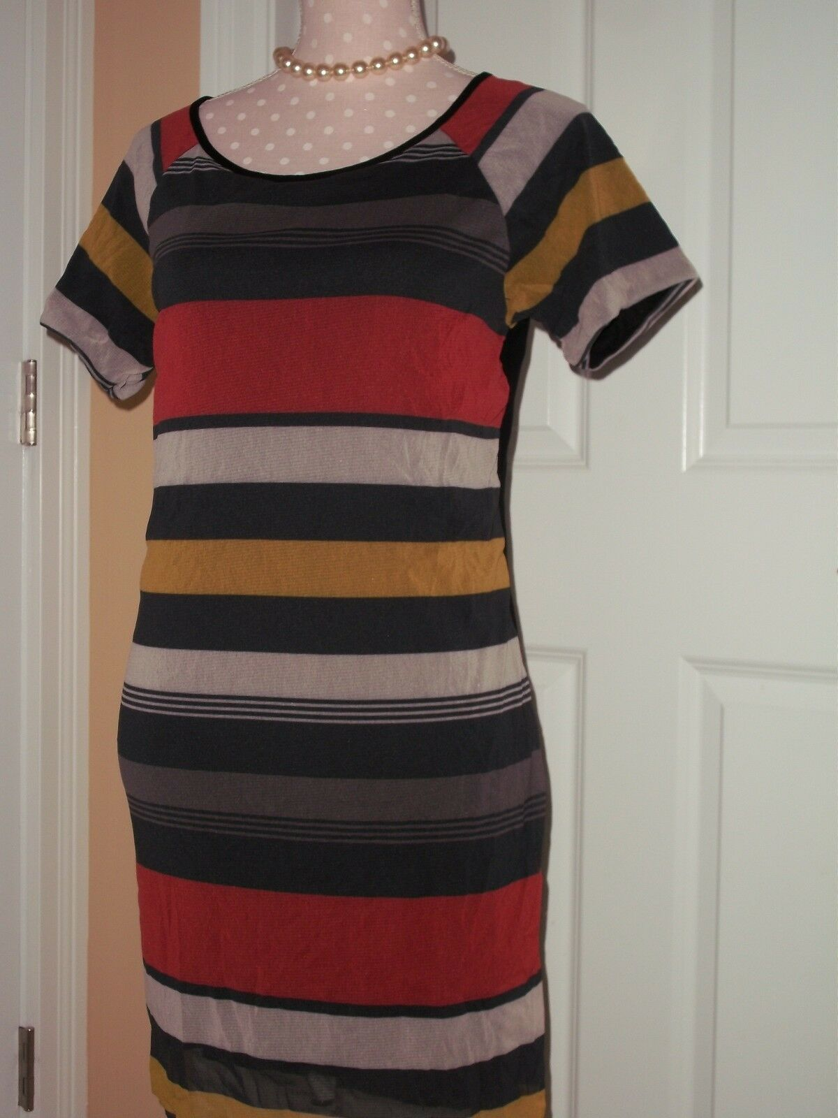 Womens Weston Wear dress striped dress Sz L MADE IN USA