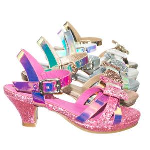 a545025b4a7 Image is loading Smart79K-Children-Girl-Low-Heel-Glitter-Metallic-Sandal-