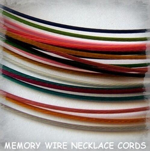 Mémoire fil collier cordons noir blanc argent etc couleurs diverses