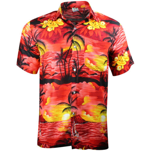 HAWAIIAN SHIRT PARTY FANCY DRESS S XL XXL BEACH CRUISE STAG COTTON FEEL L M 3XL