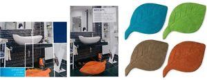 Premium-Qualita-LAVABILE-COTONE-SINGOLO-Tappetino-Bagno-Foglia-Design-Bagno-MAT-Funky-Colore