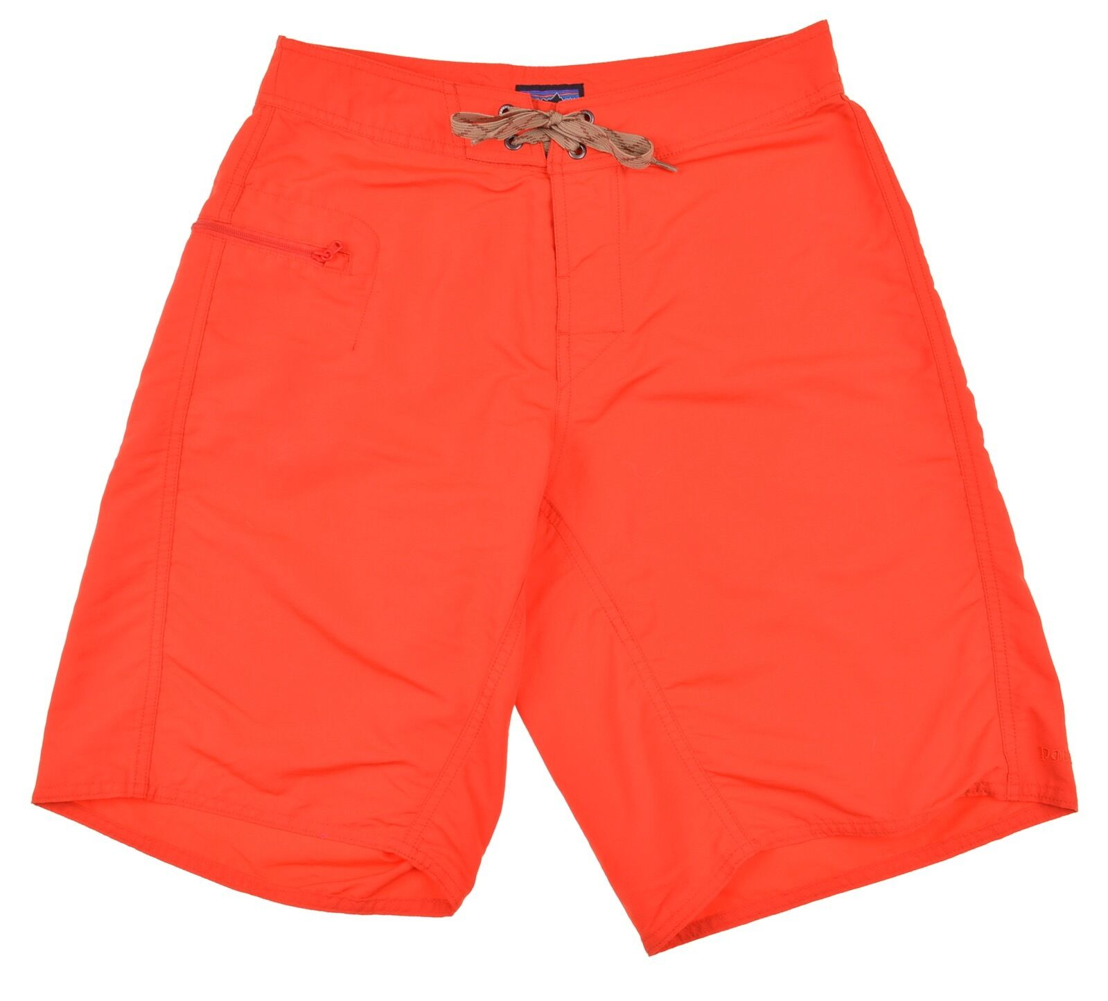 Patagonia Solid orange Red Mens Unlined Nylon Board Shorts Swim Trunks 28