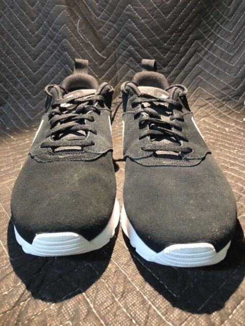 d7a5a4bf03 Nike Air Max Tavas Leather Suede Shoes Mens 11 Black/white 802611 ...