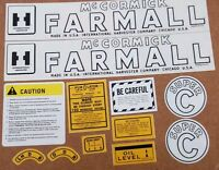 Farmall Super C Decal Set. Excellent Quality Mylar Decals .