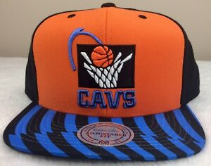 New Cleveland Cavaliers NBA Basketball Mitchell & Ness SnapBack Cap EUC Hat CAVS