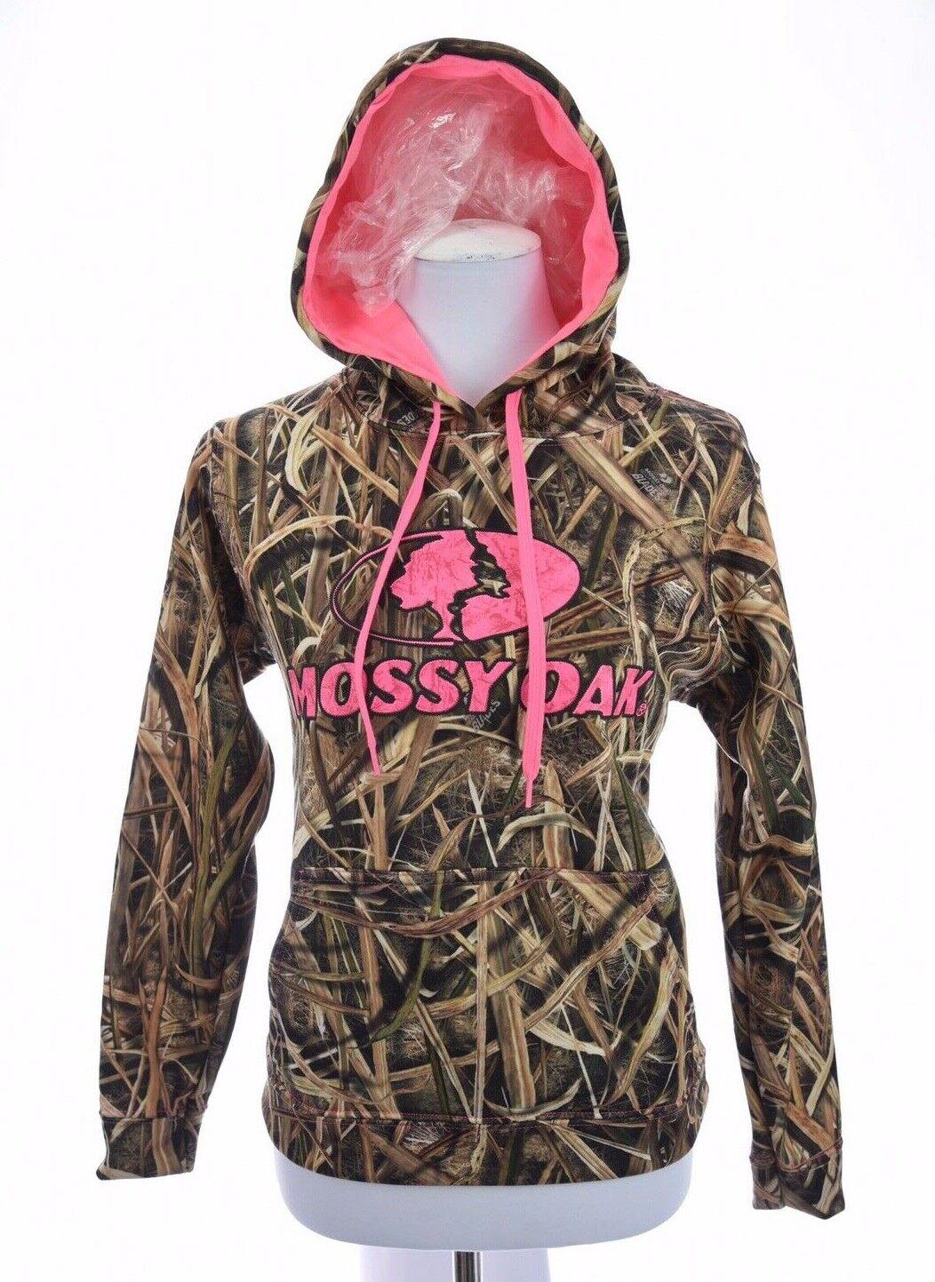 Mossy Oak Womens  Hoodie Sweatshirt Hunting Hot Pink Camouflage Sz Small  latest styles
