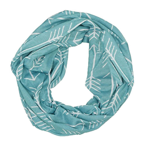 Fashion Women's Winter Casual Thermal Active Infinity Scarf With Zip Pocket