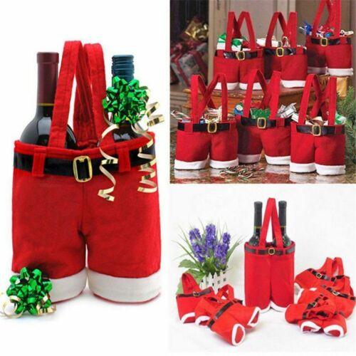 Christmas Santa Pants Candy Handbag Gift Storage Bag Xmas Decor Home Ornament