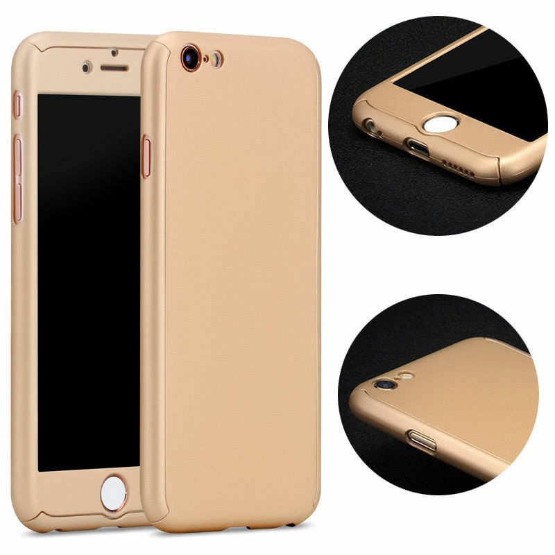 Hybrid 360° New Shockproof Case + Tempered Glass For iPhone 6 6S Plus