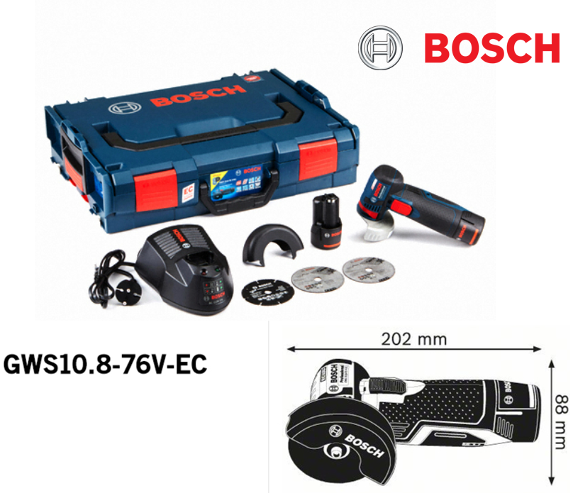 Bosch GWS 10.8-76V EC Professional Cordless 3