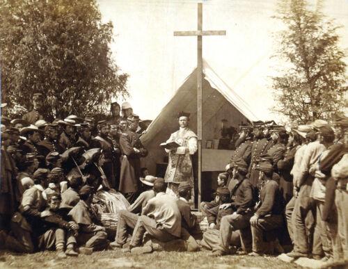 1861 Civil War-69th Infantry New York-Sunday Mass at Ft Cocoran Virginia
