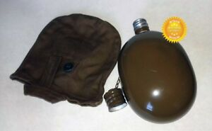 Dated-USSR-Russian-Army-Original-Flask-Soviet-Water-Bottle-Military-Case