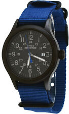 Timex TW4B04800 Men's Expedition Scout Military Indiglo Slip-Thru Band Watch