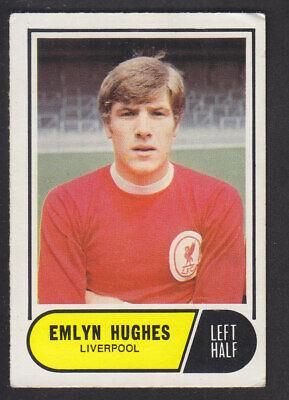 A/&BC Footballers Crinkle-Cut 1969 B1 Emlyn Hughes Liverpool No 4