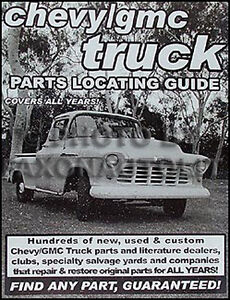 Image Is Loading Find GMC Parts With Book 1957 1958 1959
