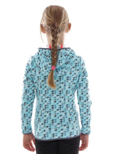 CMP Fleecejacke Funktionsjacke Kapuzenjacke blau Muster Stretch