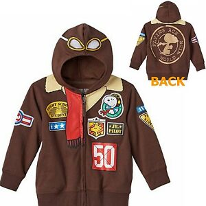 bb52703ddc Peanuts SNOOPY Zip Up Costume Hoodie Size 4 Toddler 4 T New Flying ...