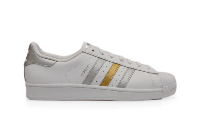 Herren Adidas Superstar - BB4 882 - weiß gold silber Turnschuhe