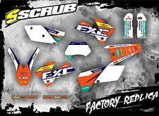 SCRUB KTM EXC 450 - 525 '03 Grafik Sticker Dekor-Set Enduro 2003