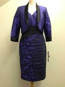 Dress-Code-Mother-of-the-Bride-Purple-and-Black-Size-16-BRAND-NEW-650