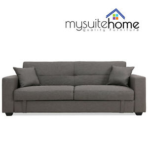Image Is Loading Erica Click Clack Contemporary Fabric 3 Seater Sofa