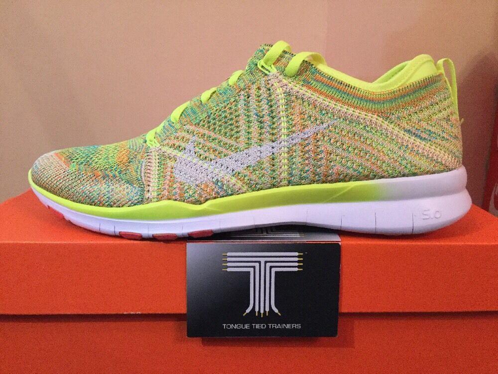 Nike Free Flyknit TR. 718785 700. REGNO Unito Taglia 5.5