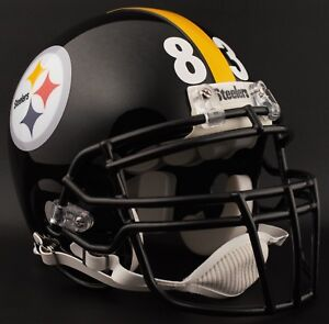 47c97405 Image is loading HEATH-MILLER-83-PITTSBURGH-STEELERS-NFL-Riddell-REPLICA-