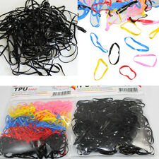 Rubber 400pcs Hairband Rope Ponytail Holder Elastic Hair Band Ties Braids Plaits