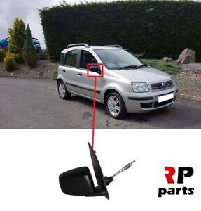 Para-Fiat-Panda-2003-2009-Nueva-Ala-Espejo-Manual-Negro-Derecho-O-S-LHD