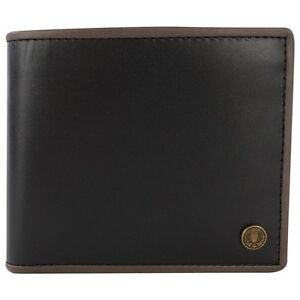Fred Perry Edge Trimmed Billfold Wallet Black / Charcoal Genuine L6250-102