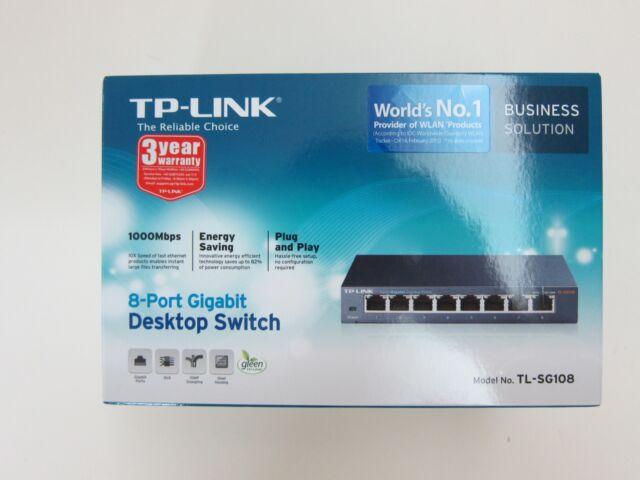 TL-SG108 SWITCH LAN ETHERNET 8 PORTE GIGABIT RJ45 1000 Mbps TP-LINK 10/100/1000