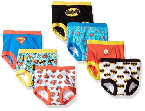 Justice League Boys Training Pants 7-Pack Briefs Sizes 2T 3T 4T
