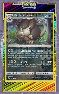 Rattatac d/'Alola Reverse-SL1:Soleil et Lune-77//149-Carte Pokemon Neuve Française