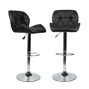 Set-of-2-Bar-Stool-Black-Counter-Height-Adjustable-Swivel-Chairs-Bar-Home-Bistro