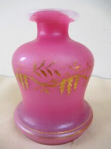 Elegant-Antique-French-Finely-Gilded-Pink-Opaline-Bottle-Decanter-Decorative-F