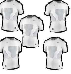 Nike-de-compresion-camisa-con-protectores-tamano-116-128-s-Weiss