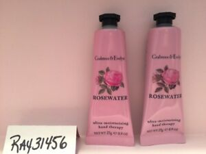 Crabtree-amp-Evelyn-ROSEWATER-Hand-Therapy-Lotion-LOT-x-2-ROSE-WATER-NEW